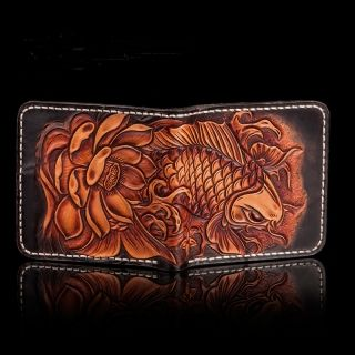 Fish Design Genuine Leather Wallet
