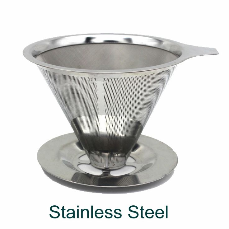 double stainless steel dripper coffee filter