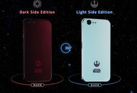 Star Wars phones land in Japan to welcome 'Rogue One'     - CNET  Enlarge Image  Sharps phones are meant to tempt Stars Wars fans. Photo by                                            SoftBank                                           Its time once again to choose on which side of the force you stand. Im not talking about next weeks release of Rogue One: A Star Wars Story. Im talking about a new set of phones from Sharp.   Released Friday both phones sport 5.3-inch displays with 1920x1080…