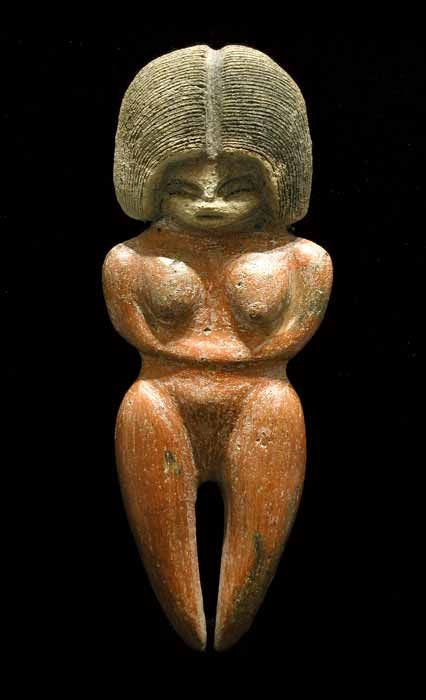 #Precolumbian, #Archaic -- Valdivian Fertility Goddess -- Circa 3500-1800 BCE -- The Valdivia Culture is one of the oldest settled cultures recorded in the Americas. It emerged from the earlier Las Vegas culture & thrived on the Santa Elena peninsula near the modern-day town of Valdivia, Ecuador between 3500-1800 BCE -- Via Barakat Gallery.