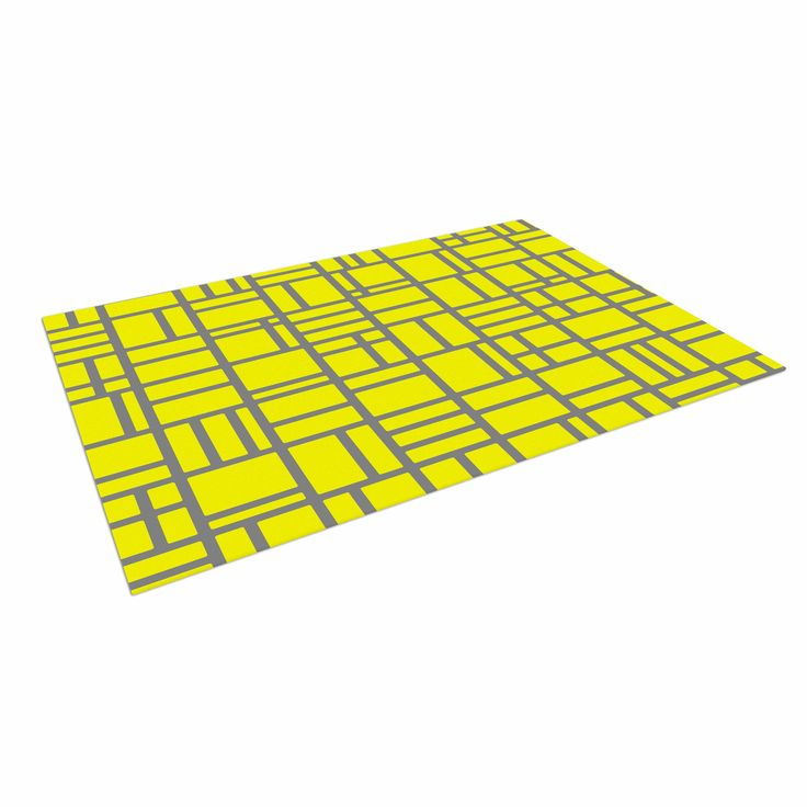 "Trebam ""Kutije V.4"" Yellow Digital Indoor / Outdoor Floor Mat"