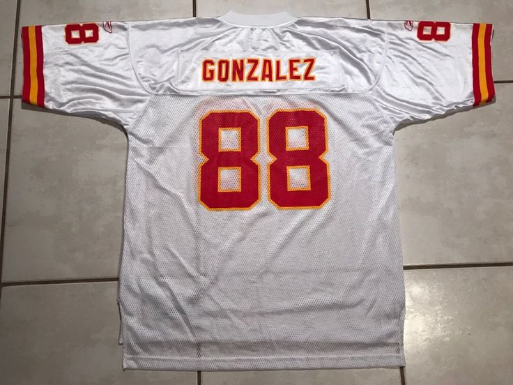3ad2ed6ac Jersey Details about Rare Vintage REEBOK Kansas City Chiefs Tony Gonzalez  WHITE NFL Kansas City Chiefs 88 ...