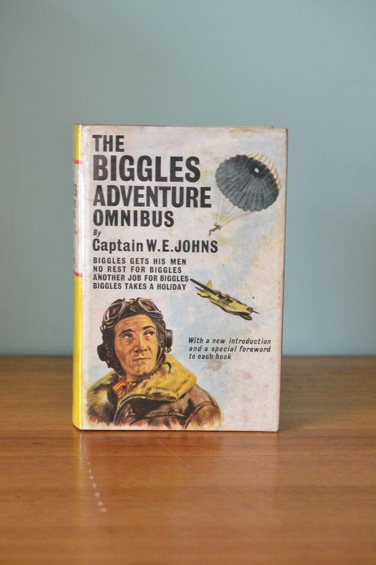 Vintage Childrens book Biggles The Biggles Adventure Omnibus Hodder & Stroughton Limited 1965 - Funky Flamingo