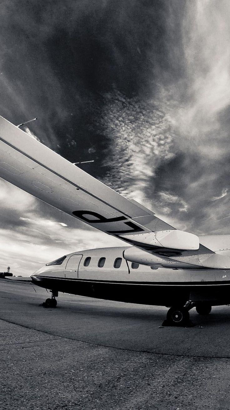 airplane runway night black and white iphone background