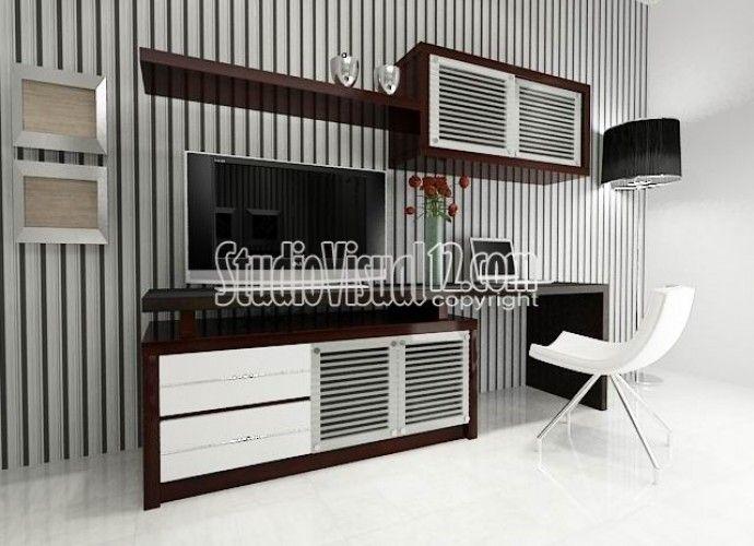 Desain Meja, Rak, Buffet TV Untuk Ruang Minimalis