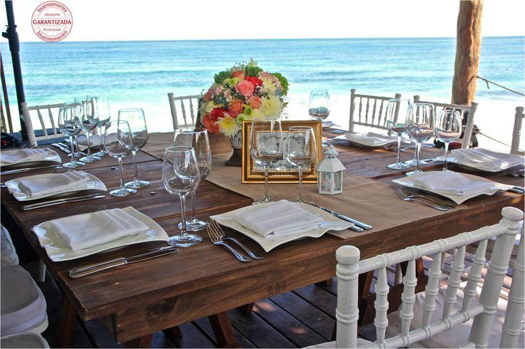 La tendencia Rustic le va bien a tu boda en la playa   #LMDesing #Rustic #Wedding #RivieraMaya #Mexico #LoveMemories #CreandoMomentosMemorables.
