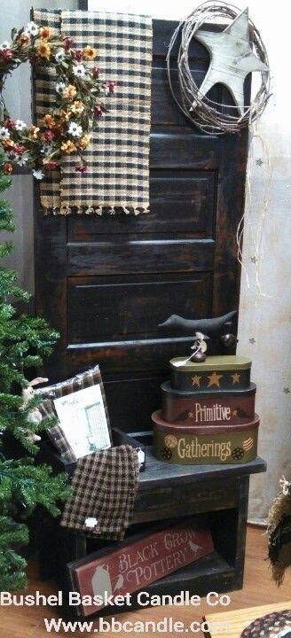 Primitive door bench