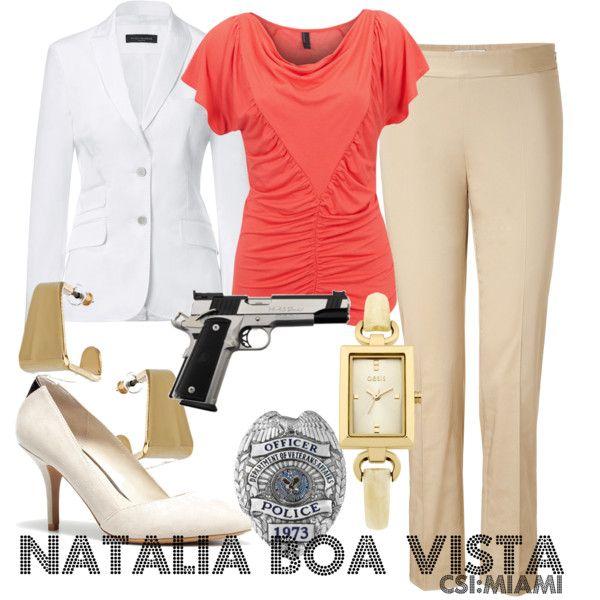 Inspired by CSI:Miami character Natalia Boa Vista played by Eva LaRue from 2005-2012.