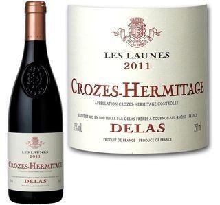 """Vin rouge DELAS cuvée """" Les Launes """" - Crozes-hermitage – 2013"""