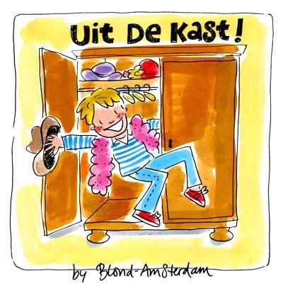 Uit de kast dag - blond amsterdam