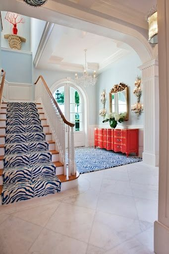Palm Beach Chic By Wendy Valliere - The Glam Pad | The stairs are Ralph-esque but I love the open & beachy feel of the house