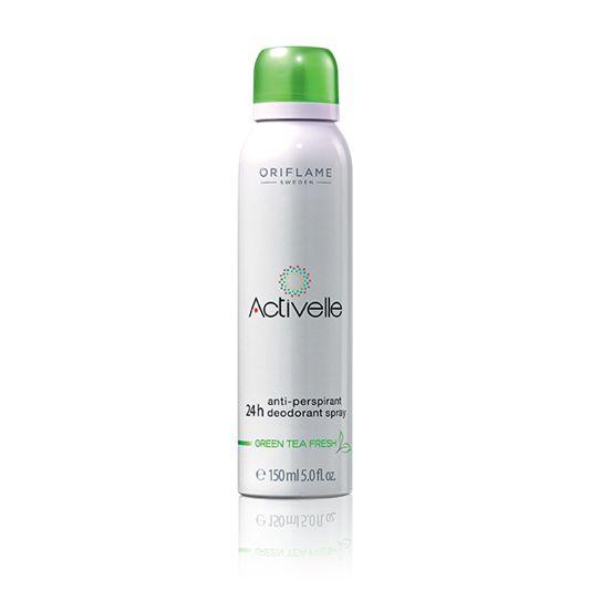 Antiperspirant deodorant ve spreji Activelle Green Tea 24h
