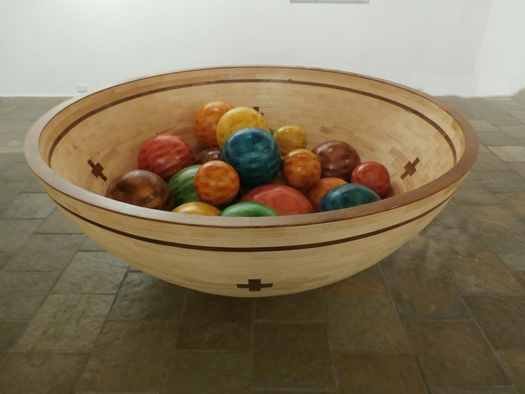 Bowl of marbles sculpture by John Abery Sculptor