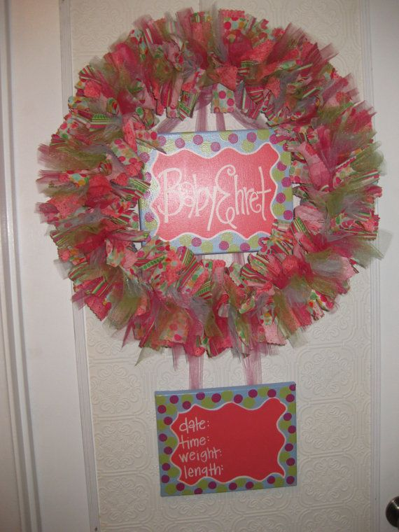 83 best Birth Wreaths images – Hospital Birth Announcements