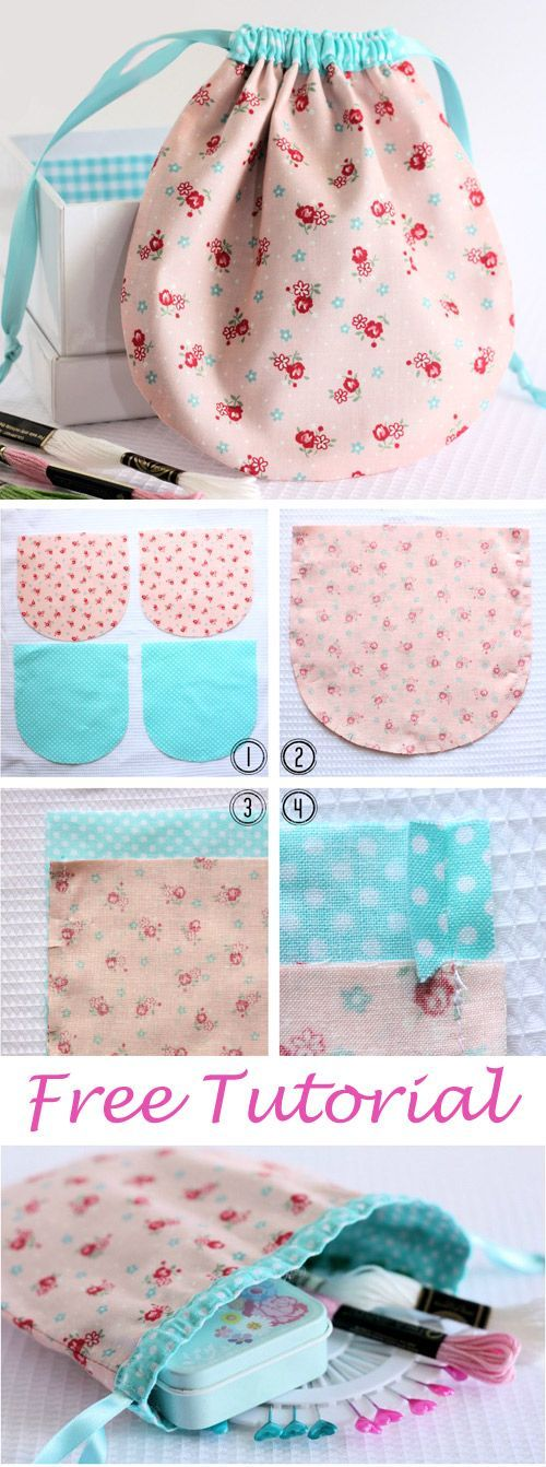 Pretty Drawstring Pouch Tutorial