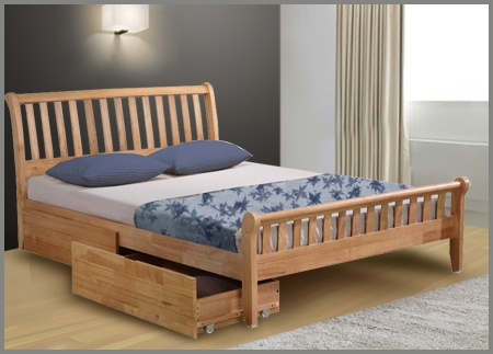 flintshire padeswood wooden king size bed frame wwwbedtradercouk - Wood King Size Bed Frame