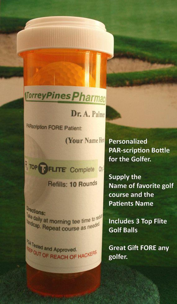 Great Fun Golf Gift PARscription for your by BajaEddCustomRodRack, $15.00