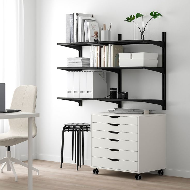 Ikea Holzmöbel Ikea - Algot, Shelving Unit, Black, The Parts In The Algot ...
