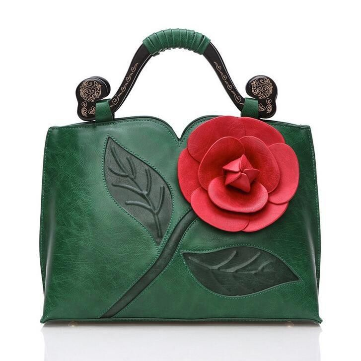 Big Flower Handbag Tote Rosy 7 colors – Floral Cat