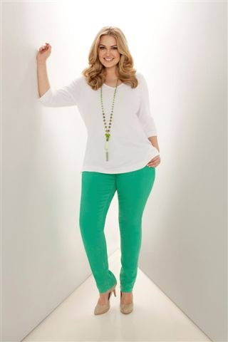 Toni Plus, Not Your Daughter's Jeans in green, plus-size