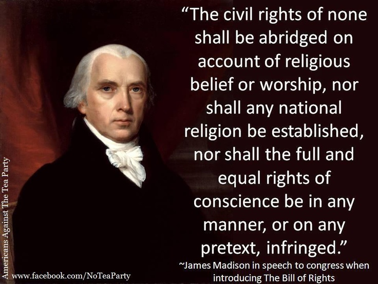 James Madison on civil rights: James Of Arci, Politics, Human Rights, Civil Rights, Equality Rights, James D'Arcy, James Madison, Found Father, Bill Of Rights