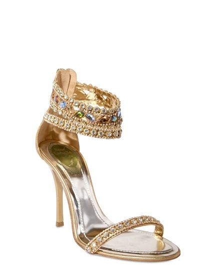 anklet leather swarovski sandal | Swarovski Sandals by Rene Caovilla | Sandals And Flip Flops