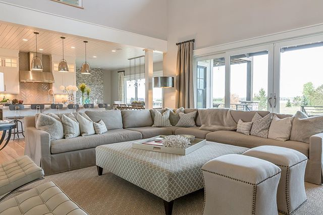Great furniture set up for the living room...