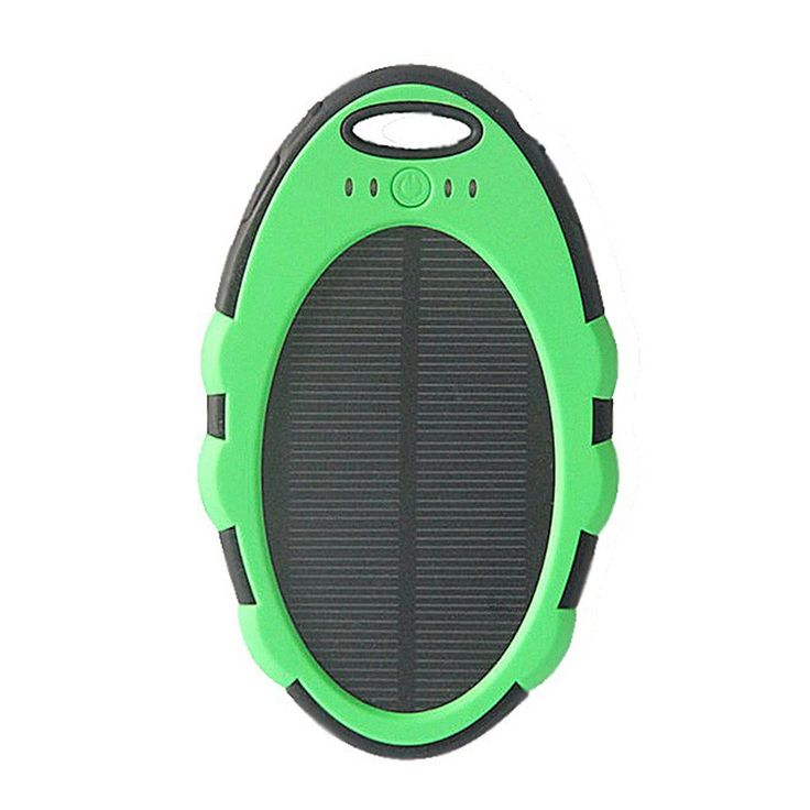 Solar Power Bank Black Green Rp 310.000