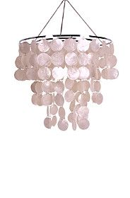 TIERED ROUND CAPIZ SHELL CEILING SHADE R399