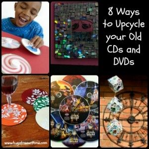8 ways to #upcycle your old cds and dvds #greenup