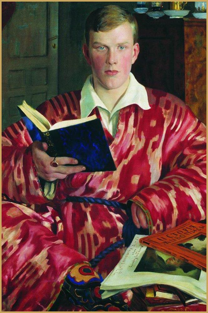 Self-portrait by the Russian painter Boris Kustodiev, 1904. #HermesHome #VoyageenIKat