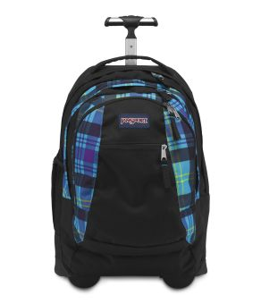 JanSport Driver 8 Backpack Black/Prism Purple MAMMOTH BLUE PRESTON PLAID