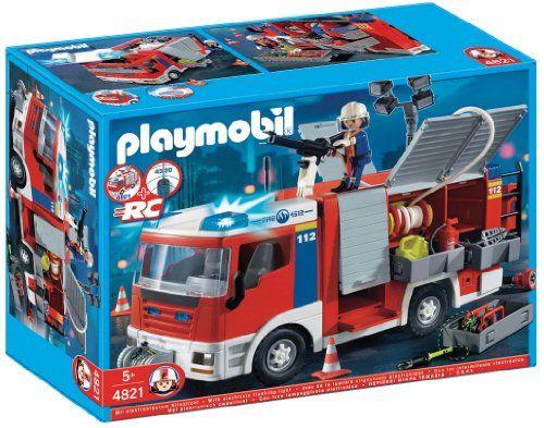 Playmobil – 4821 – Jeu de construction – Fourgon d'intervention de pompier   Your #1 Source for Toys and Games
