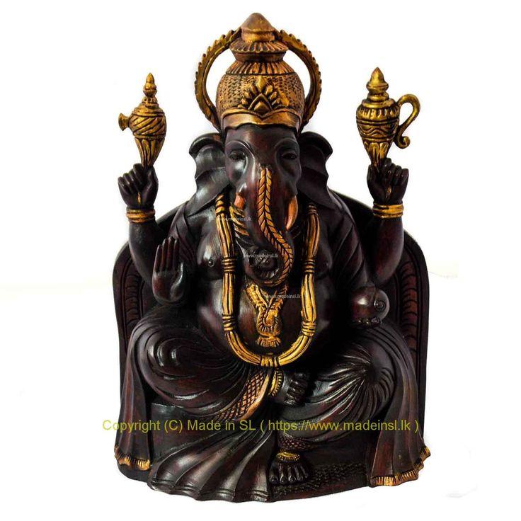 Wood Statue 7-Gana God