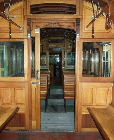 Inside of Melbourne's green trams