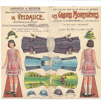 Antique French Paper Doll.