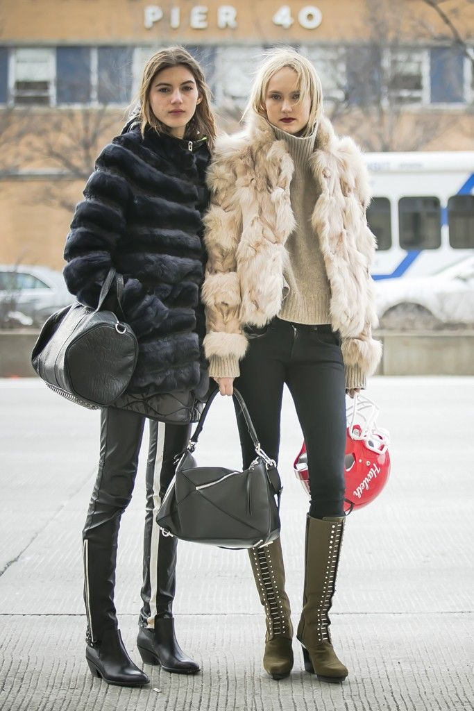 Street Style Friends. New York Fashion Week Fall 2015. [Photo by Ryan Kibler]