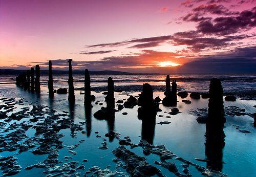 Caldy Beach, Wirral, England, UK