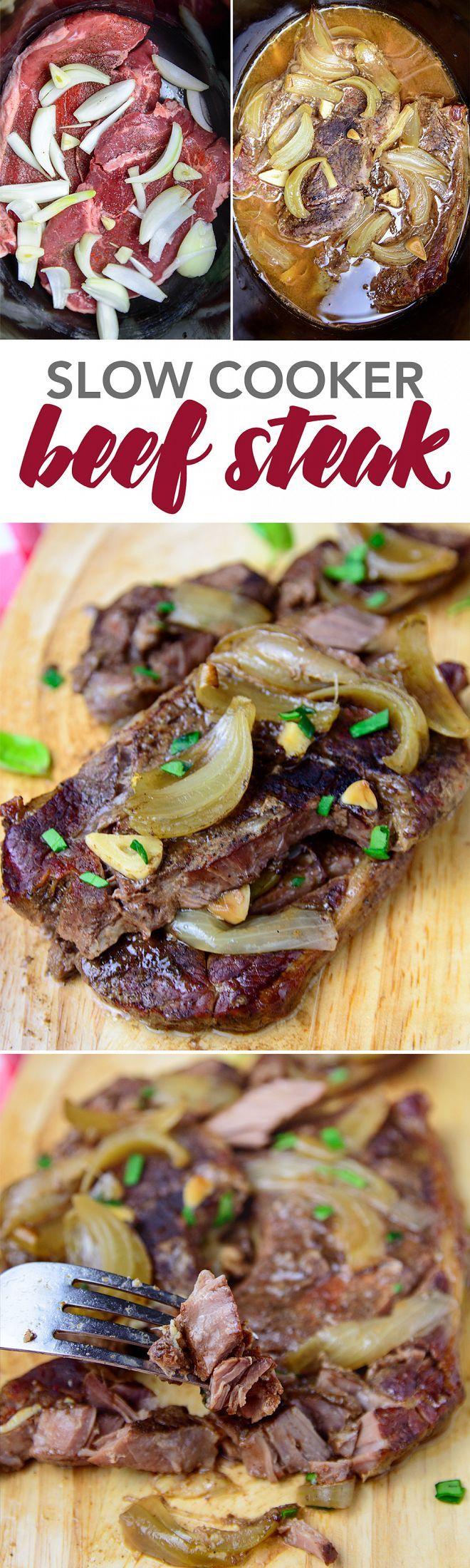 Slow Cooker Beef Steak - My Zucchini Recipes