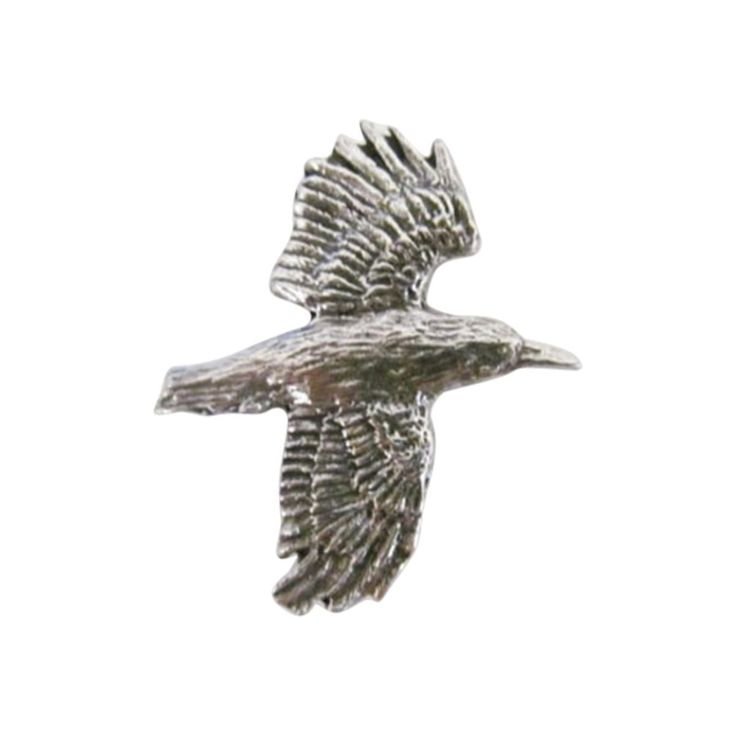 Pewter ~ Raven Flying ~ Refrigerator Magnet ~ B062M