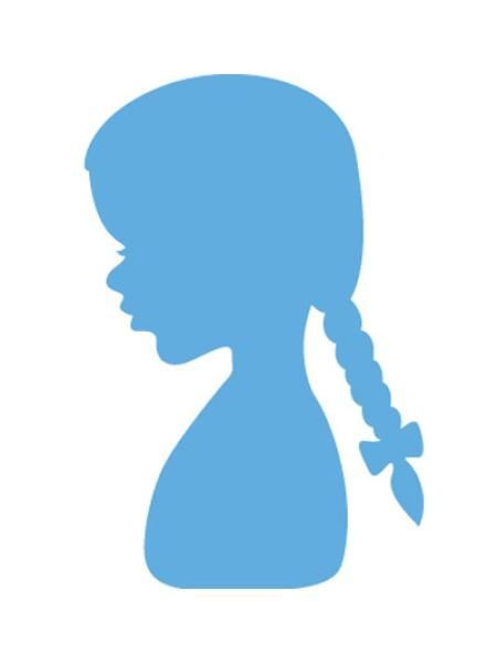 Marianne Design Creatable Silhouette girl with braids