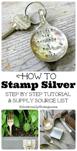 How to Stamp Silver Tutorial - great idea for Christmas decorations, crafts, ornaments, and jewelry. | eclecticallyvintage.com