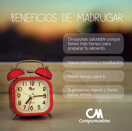 Al madrugar haces que tu día sea más productivo. www.compumuebles.com