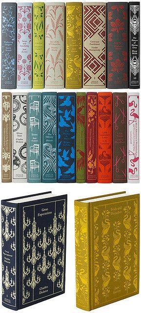 penguin book series by coralie bickford-smith. I received four for Christmas, I think I'm in LOVE.