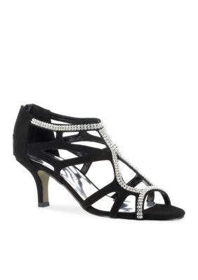Easy Street Black Flattery Evening Shoes