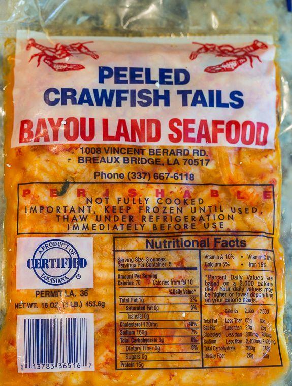 Frozen Crawfiah Tails - Louisiana Seafood