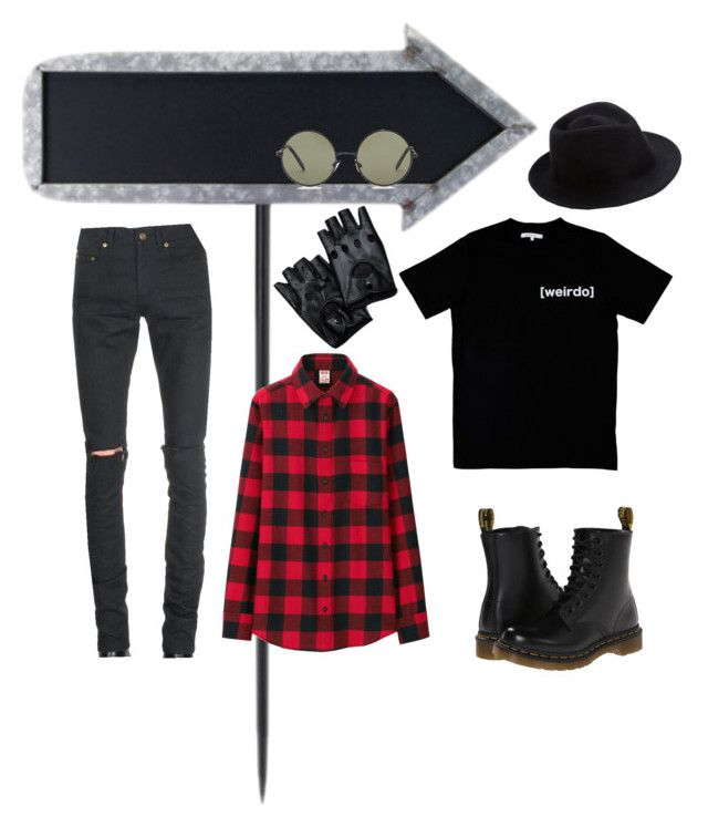 """kara02"" by ocrapschorkcytapunkap on Polyvore featuring Dr. Martens, Forever 21, Yves Saint Laurent, Uniqlo, Illustrated People and Eugenia Kim"