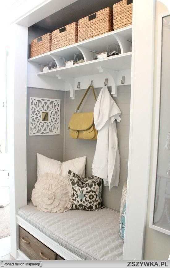 dressing area inside the closet, great in an entryway with a closet