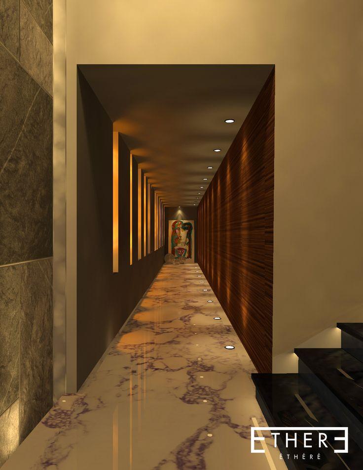 Hallway design, Interior, Puebla Mexico