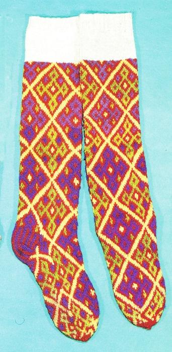 Latvian socks-  how beautiful and toasty!!! Kb